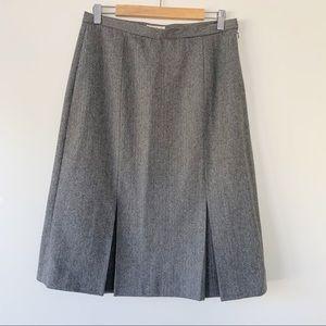 Eddie Bauer Herringbone Wool Blend Pencil Skirt 12